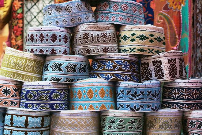 Fast alle Männer in Oman tragen eine Kumma
